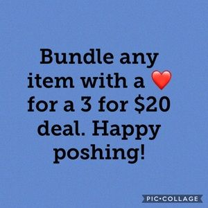 Bundle sale 3 for $20
